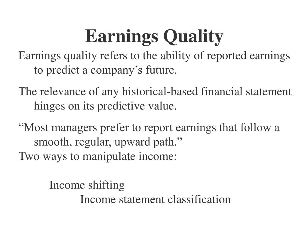 Earnings Quality