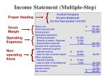 income statement multiple step