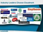 industry leaders choose cloudmark