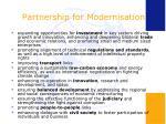 partnership for modernisation