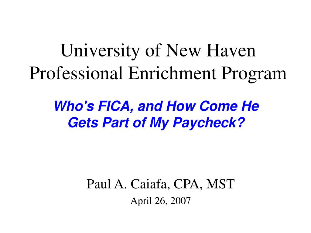 university of new haven professional enrichment program l.