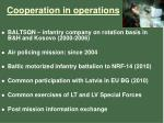 cooperation in operations