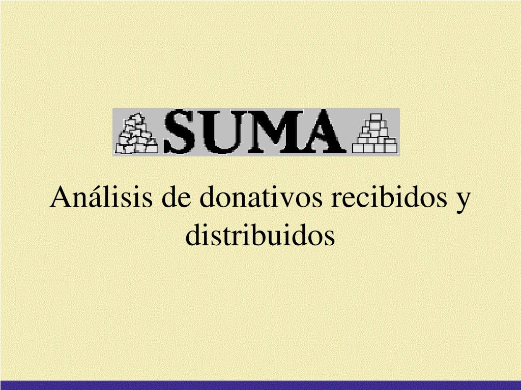 an lisis de donativos recibidos y distribuidos l.