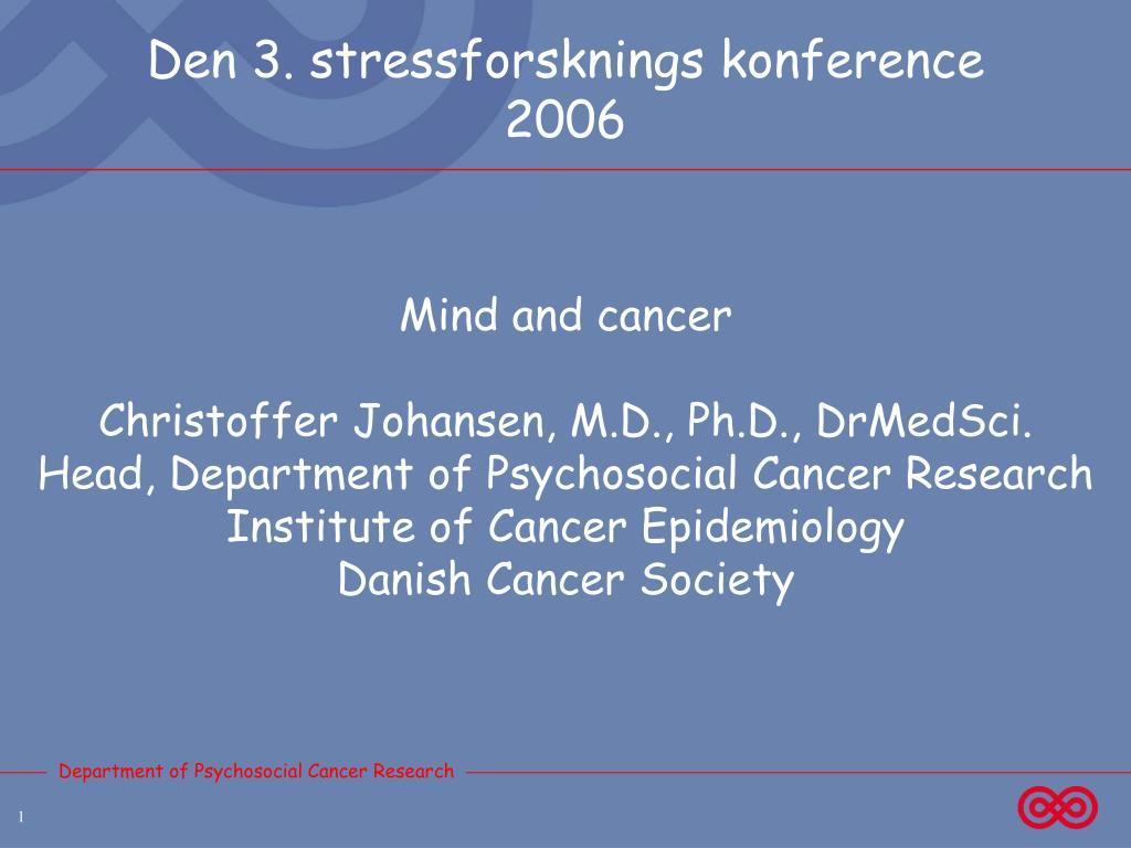 den 3 stressforsknings konference 2006 l.