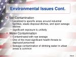 environmental issues cont