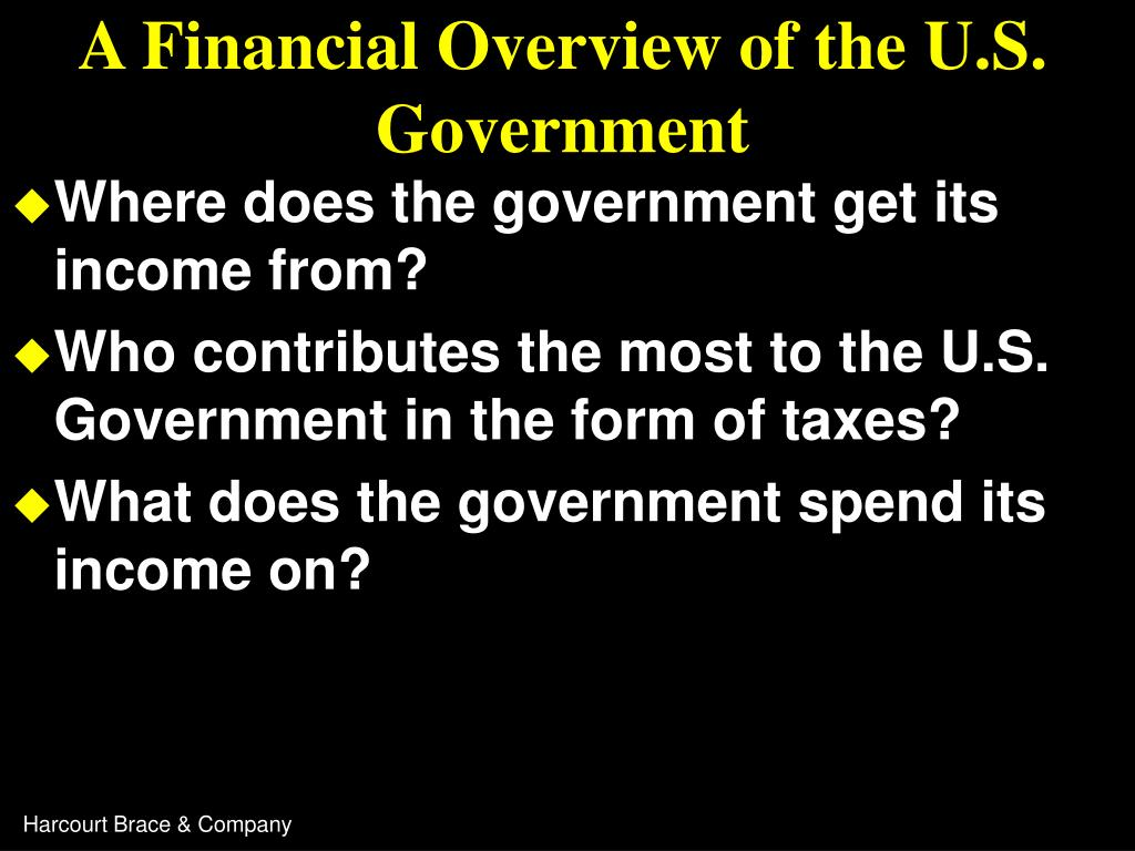 A Financial Overview of the U.S. Government