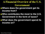 a financial overview of the u s government