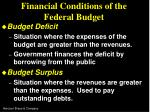 financial conditions of the federal budget