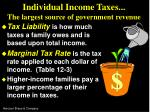 individual income taxes the largest source of government revenue