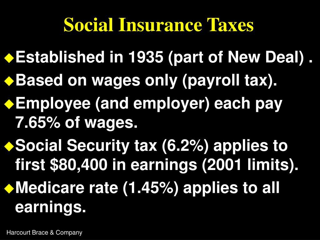 Social Insurance Taxes