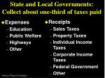state and local governments collect about one third of taxes paid