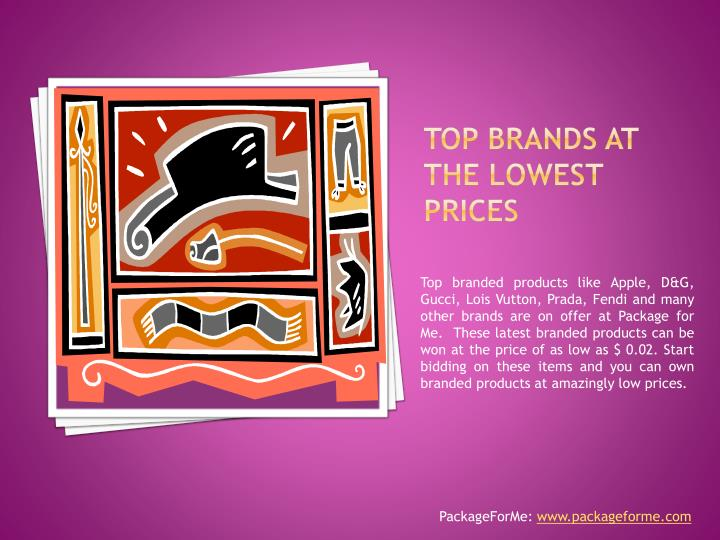 Top brands at the lowest prices