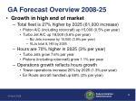 ga forecast overview 2008 25