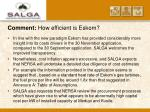 comment how efficient is eskom