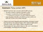 comment policy context irp6