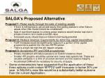 salga s proposed alternative22