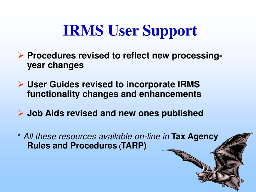 Procedures revised to reflect new processing-year changes