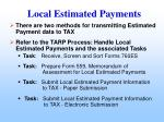 local estimated payments
