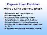 preparer fraud provisions43