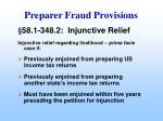 preparer fraud provisions45