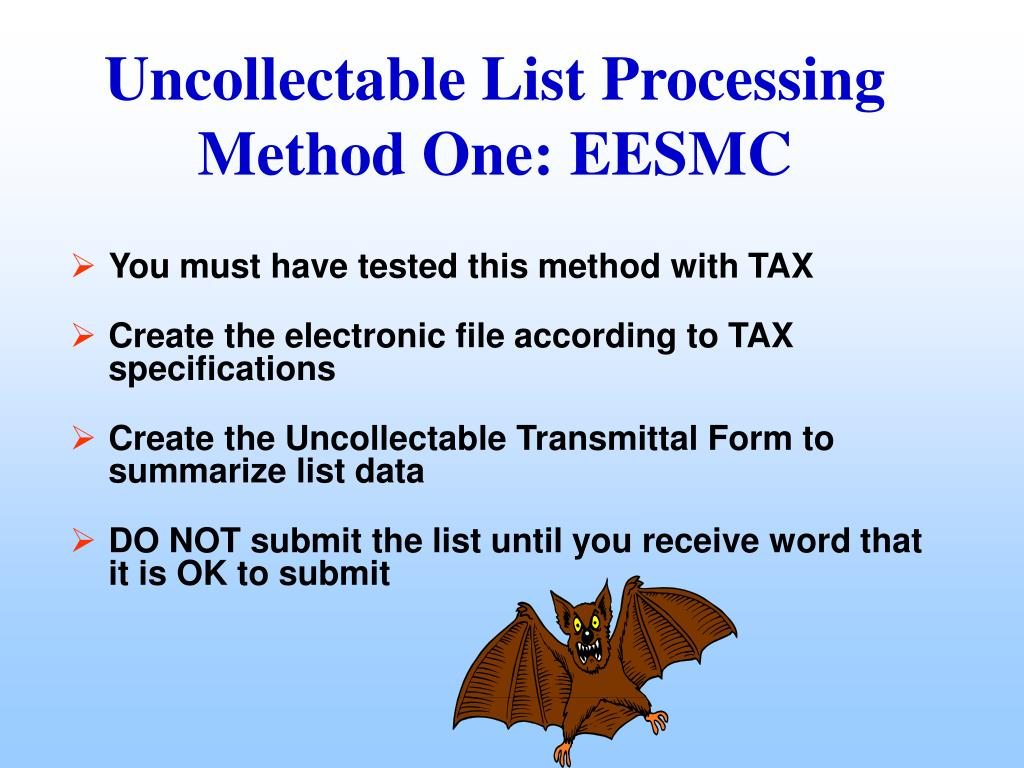 You must have tested this method with TAX