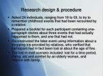 research design procedure