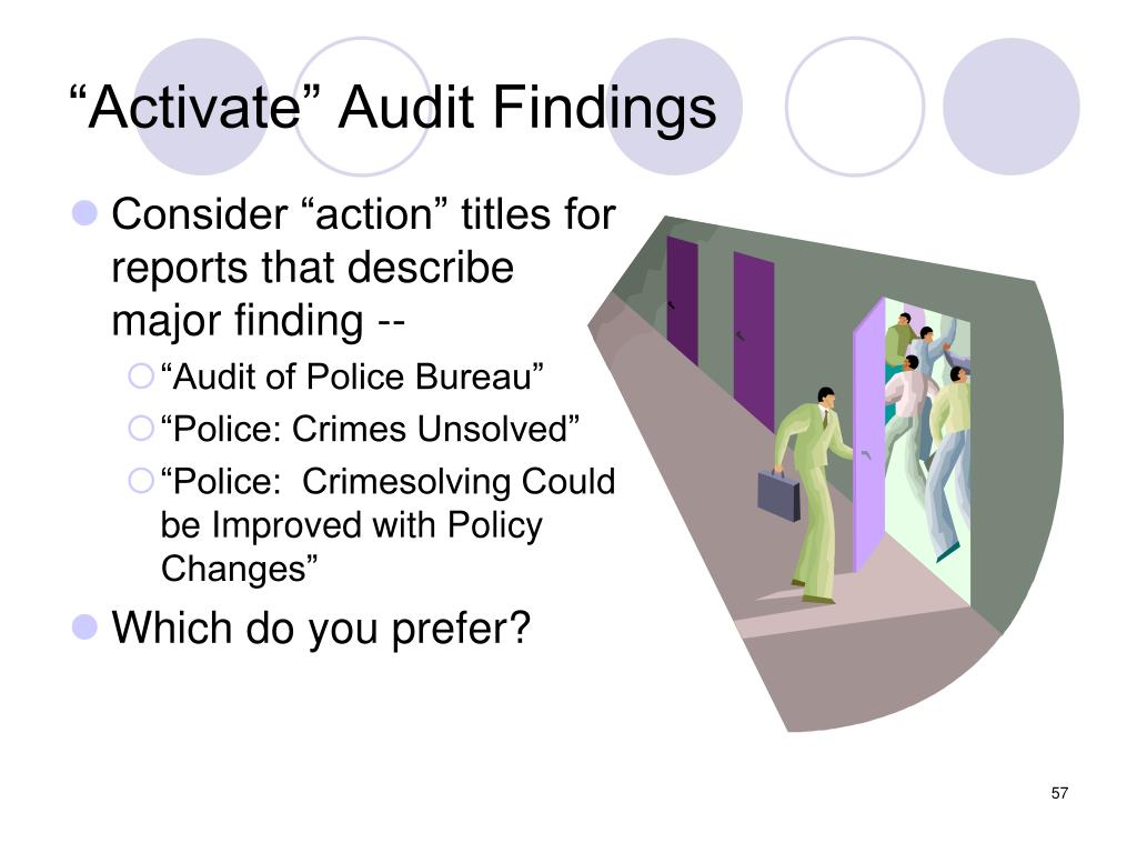 """""""Activate"""" Audit Findings"""