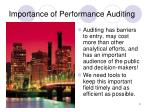 importance of performance auditing