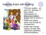 inspiring action with auditing