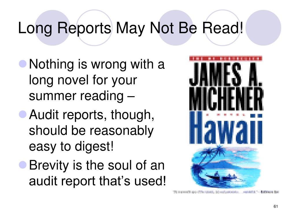 Long Reports May Not Be Read!