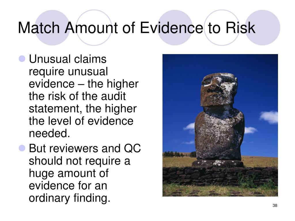 Match Amount of Evidence to Risk