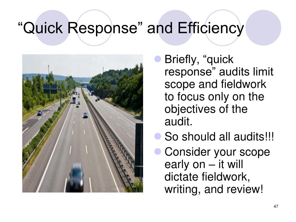 """""""Quick Response"""" and Efficiency"""