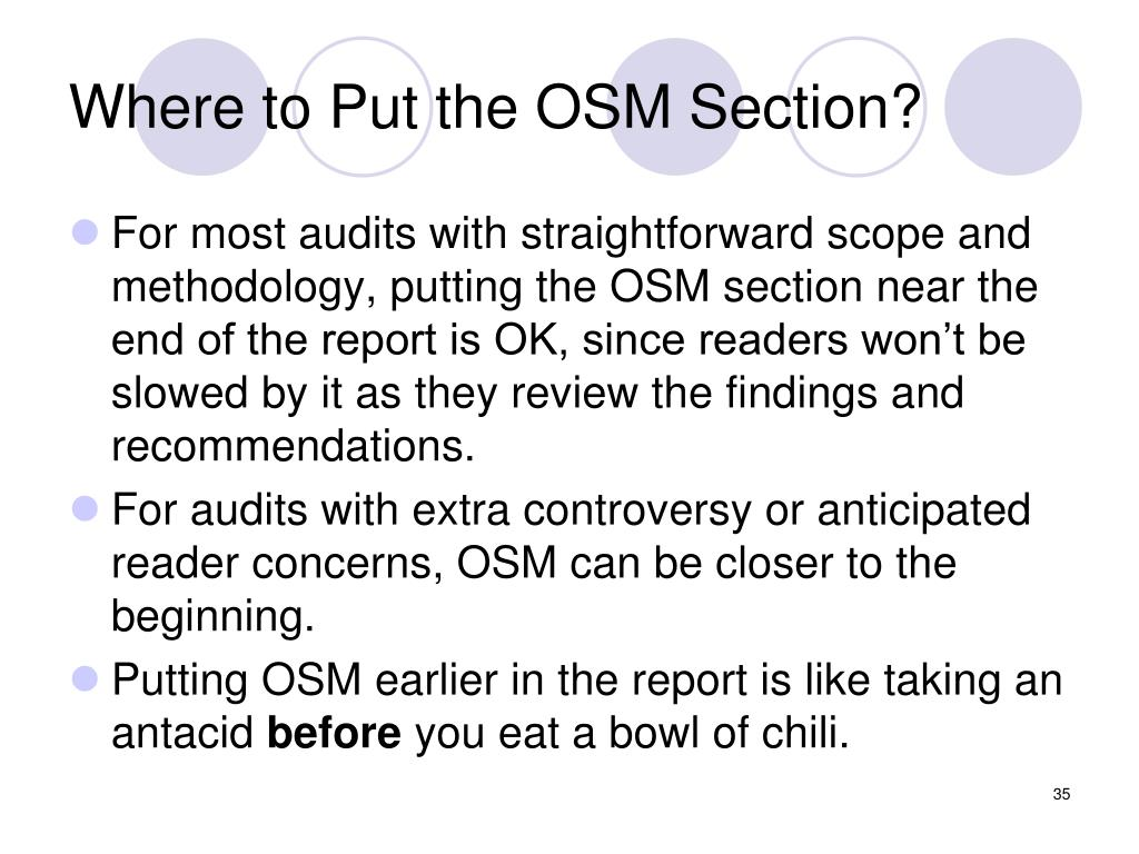 Where to Put the OSM Section?