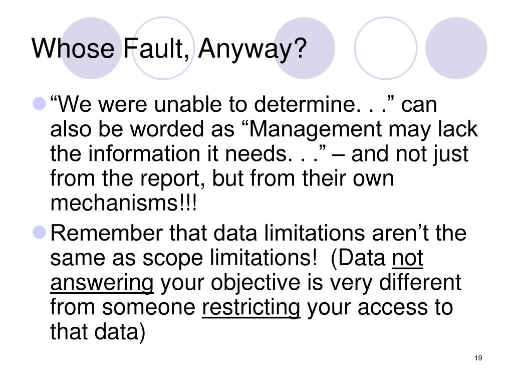 Whose Fault, Anyway?