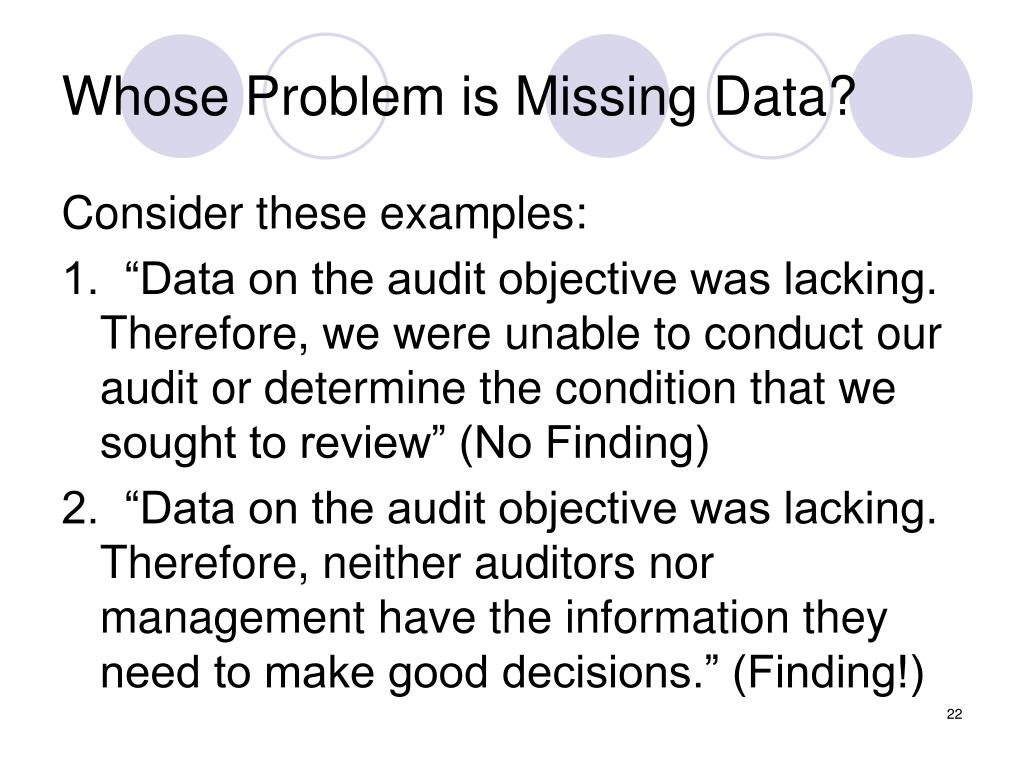 Whose Problem is Missing Data?