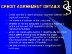 credit agreement details