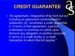 credit guarantee