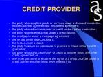 credit provider