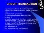 credit transaction