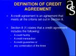 definition of credit agreement