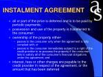 instalment agreement