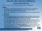 idea 1 2 3 spectrum efficiency system and over all