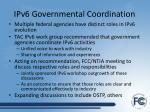 ipv6 governmental coordination