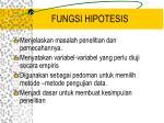 fungsi hipotesis