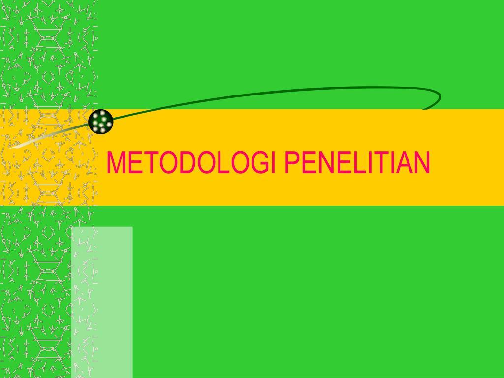 metodologi penelitian l.