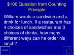 100 question from counting principle