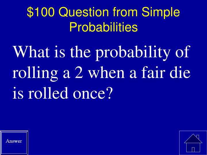 100 question from simple probabilities
