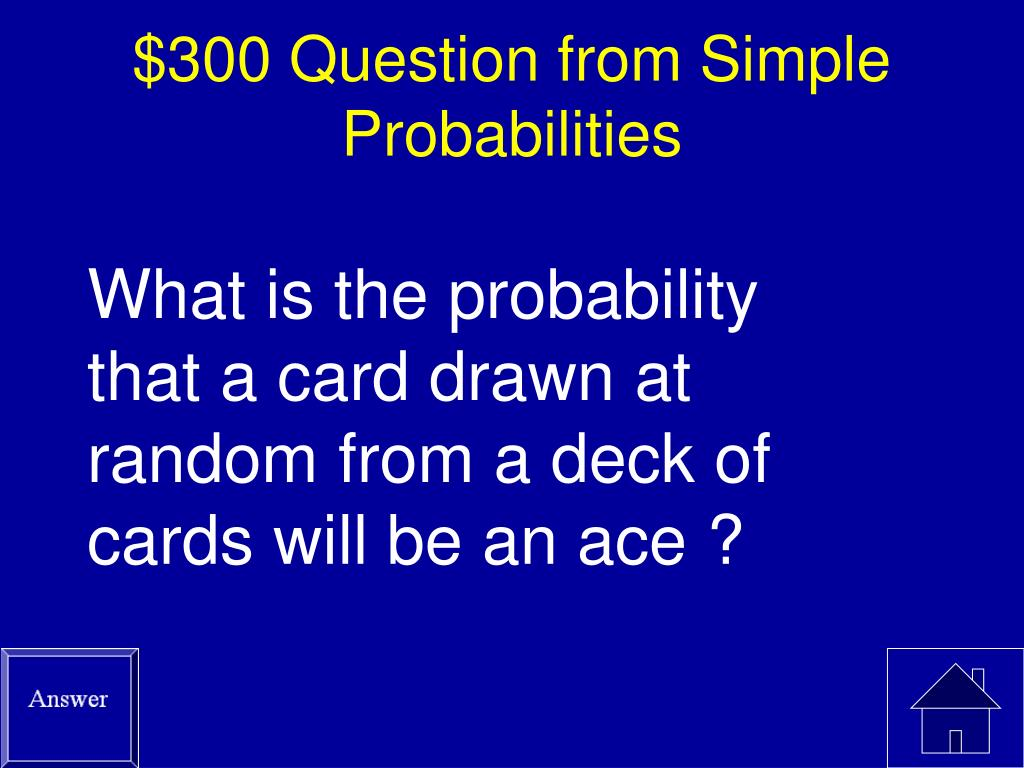 $300 Question from Simple Probabilities