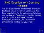 400 question from counting principle