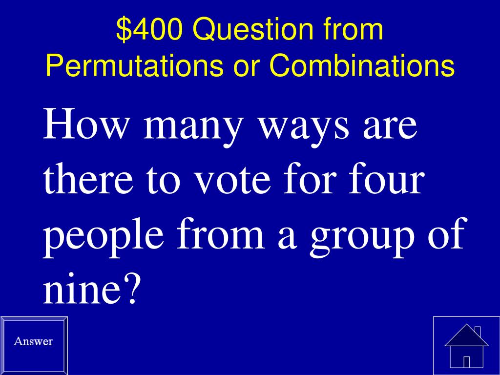 $400 Question from Permutations or Combinations